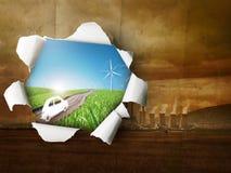Energía de la potencia vieja y nueva Fotos de archivo