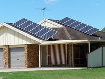 Energía del panel solar fotos de archivo