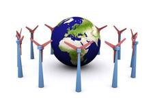 Energía eólica ilustración del vector