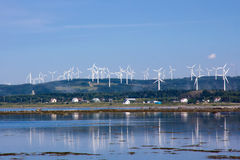 Energía eólica. Fotos de archivo