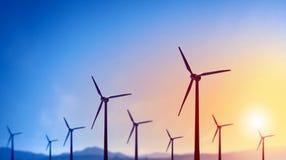 Energía eólica alternativa Imagen de archivo libre de regalías