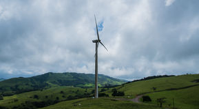 Energía eólica Costa Rica de la energía imágenes de archivo libres de regalías