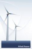 Energía eólica - cubierta del folleto o tarjeta de visita Imagenes de archivo