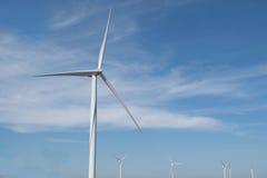 Energía eólica en la montaña Imagen de archivo libre de regalías