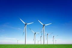 Energía eólica global Imagen de archivo libre de regalías