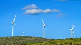 Energía eólica renovable Imágenes de archivo libres de regalías