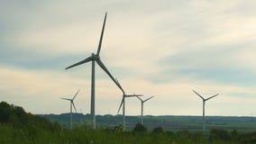 Energía eólica, energía eólica, turbina de viento almacen de video