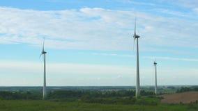 Energía eólica, energía eólica, turbina de viento metrajes