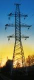 Energía eléctrica de la transferencia en distancia Fotos de archivo libres de regalías
