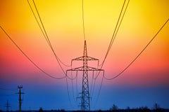 Energía eléctrica del alambre Imágenes de archivo libres de regalías