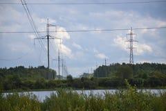 Energía, electricidad, electricidad, energía del poder, Po Imágenes de archivo libres de regalías