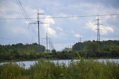 Energía, electricidad, electricidad, energía del poder, Po Imagenes de archivo