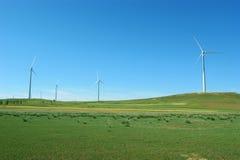 Energía limpia, energía eólica Fotografía de archivo libre de regalías