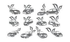 Energía Logo Set Bundle Collection de la hoja del coche Fotografía de archivo libre de regalías