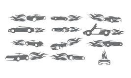 Energía Logo Set Bundle Collection del fuego del coche Foto de archivo libre de regalías