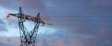 Energía: Pilón eléctrico Imagen de archivo
