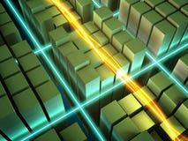 Energía que fluye ilustración del vector