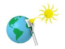 Energía solar stock de ilustración
