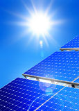 Energía solar alternativa Foto de archivo