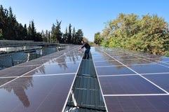 Energía solar - electricidad verde Foto de archivo libre de regalías