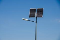 Energía solar renovable Imágenes de archivo libres de regalías