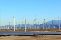 Energía solar y eólica foto de archivo libre de regalías