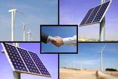 Energía solar y eólica alternativa Fotos de archivo libres de regalías