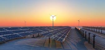 Energía sostenible Foto de archivo libre de regalías