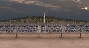 Energía sostenible Imagen de archivo libre de regalías