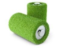 Energía verde Batería de la hierba Foto de archivo libre de regalías