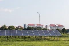 Energía verde de la luz del sol de la célula solar Fotografía de archivo libre de regalías