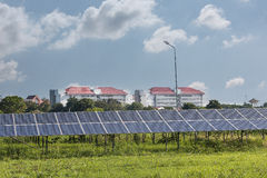 Energía verde de la luz del sol de la célula solar Fotos de archivo