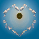 Energía verde del amor Imagen de archivo libre de regalías