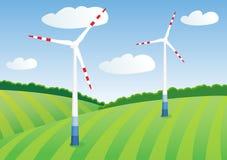 Energía verde del viento Fotografía de archivo libre de regalías