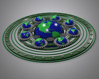 Energía verde global Foto de archivo libre de regalías