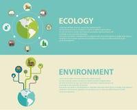 Energía y contaminación verdes ilustración del vector