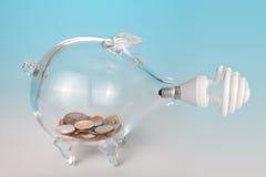 Energía y dinero del ahorro Imagen de archivo libre de regalías