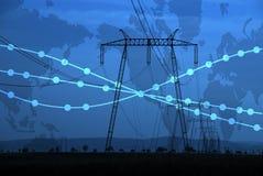 Energía y potencia Imagen de archivo libre de regalías