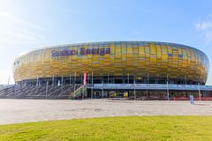 Energa格但斯克体育场在波兰 免版税库存照片
