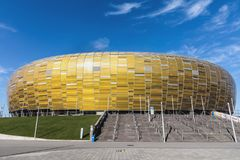 Energa格但斯克体育场在波兰 库存图片