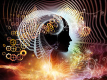 Energía de la mente humana Fotos de archivo