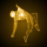 Energía del hombre del baile Foto de archivo