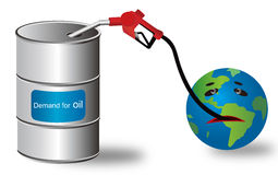 Energía del petróleo Imágenes de archivo libres de regalías