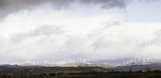 Energía eólica en naturaleza Imágenes de archivo libres de regalías