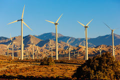 Energía eólica, Palm Spring, California Imagen de archivo libre de regalías