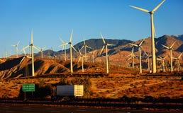 Energía eólica, Palm Spring, California Foto de archivo