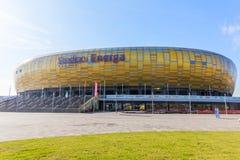 Energa Gdansk stadion i Polen Royaltyfria Foton
