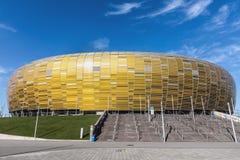 Energa Gdansk stadion i Polen Fotografering för Bildbyråer