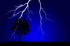 Energía pura y electricidad que simbolizan poder Imágenes de archivo libres de regalías
