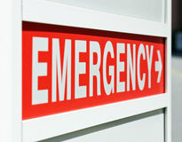 Energency Sign Stock Photography